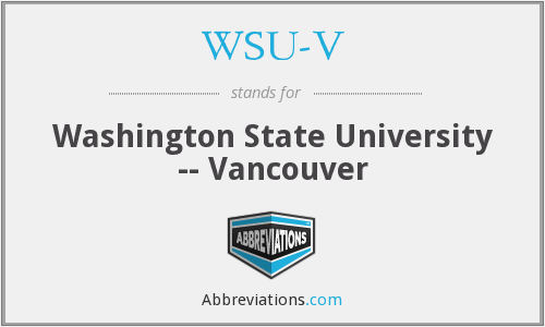 What does WSU-V stand for?