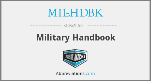 What does MIL-HDBK stand for?