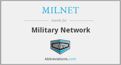 What does MILNET stand for?