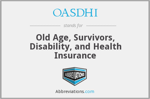 What does OASDHI stand for?