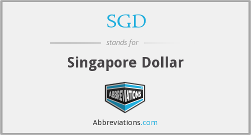 What does SGD stand for?