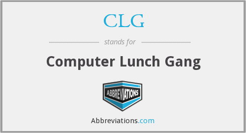 What does CLG stand for?