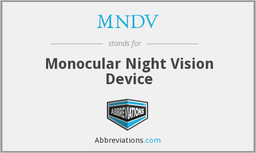 What does MNDV stand for?
