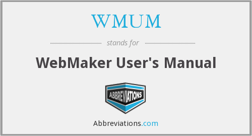 What does WMUM stand for?