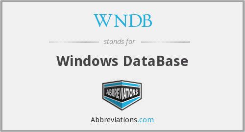 What does WNDB stand for?