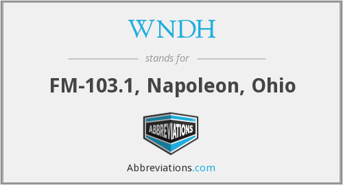 What does WNDH stand for?