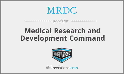 What does MRDC stand for?