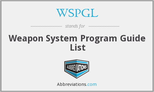 What does WSPGL stand for?