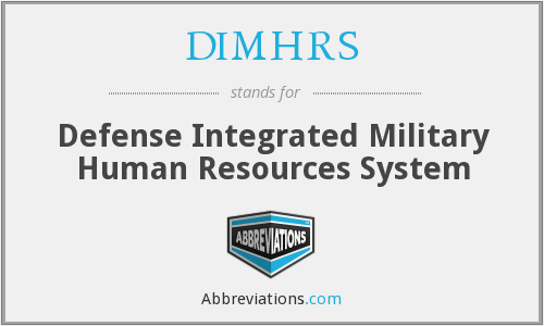 What does DIMHRS stand for?