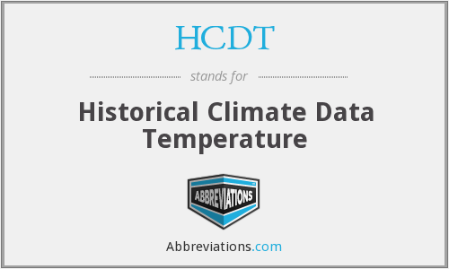 What does HCDT stand for?
