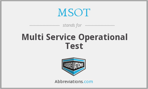 What does MSOT stand for?