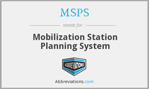 What does MSPS stand for?