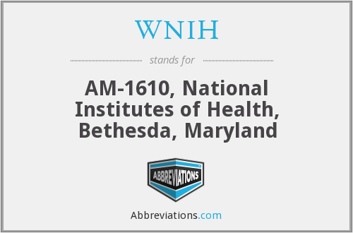 What does WNIH stand for?