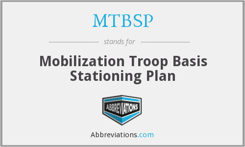 What does MTBSP stand for?