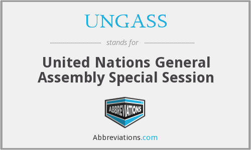 What does UNGASS stand for?