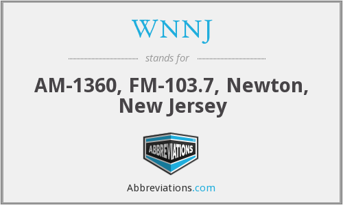 What does WNNJ stand for?