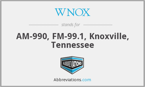 What does WNOX stand for?