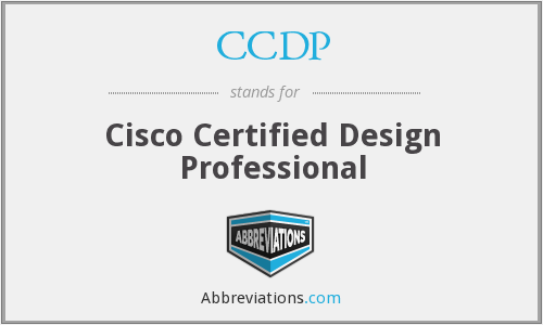 What does CCDP stand for?