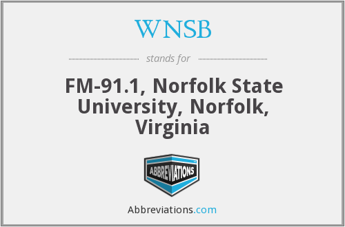 What does WNSB stand for?