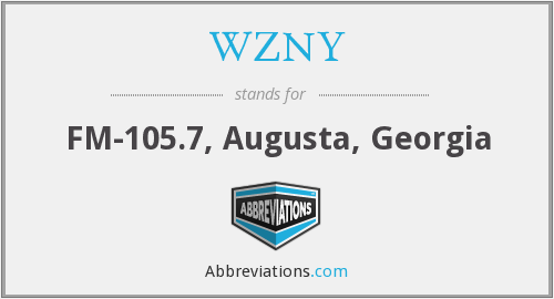 What does WZNY stand for?