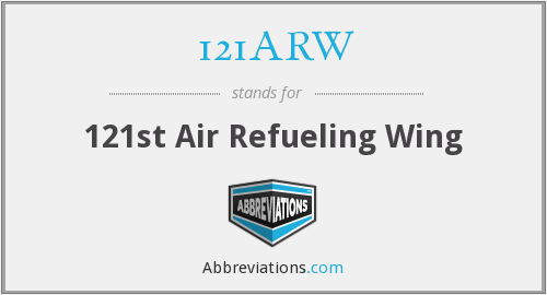 What does 121ARW stand for?