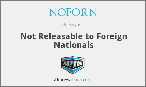 What does NOFORN stand for?