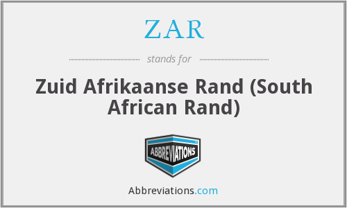 What does ZAR stand for?