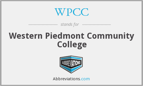 What does WPCC stand for?