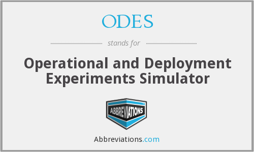 What does ODES stand for?