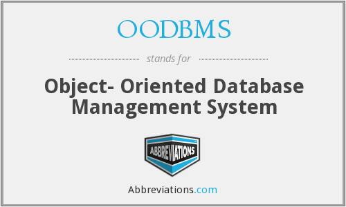 What does OODBMS stand for?