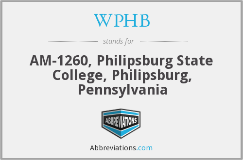 What does WPHB stand for?