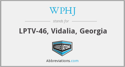 What does WPHJ stand for?