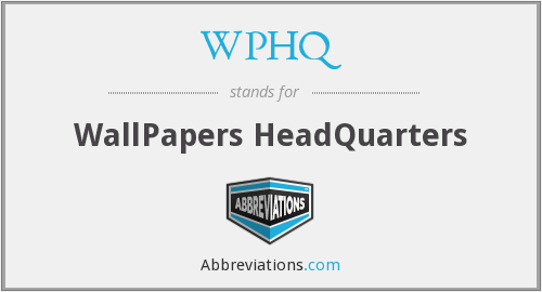 What does WPHQ stand for?