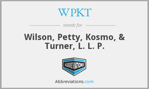 What does WPKT stand for?