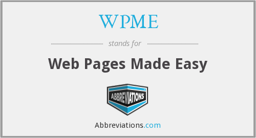 What does WPME stand for?