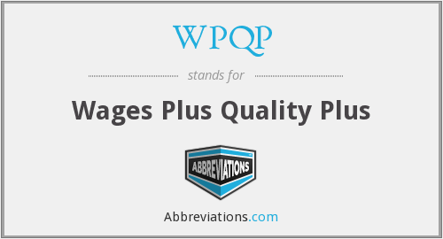 What does WPQP stand for?