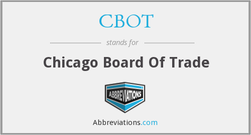 What does CBOT stand for?