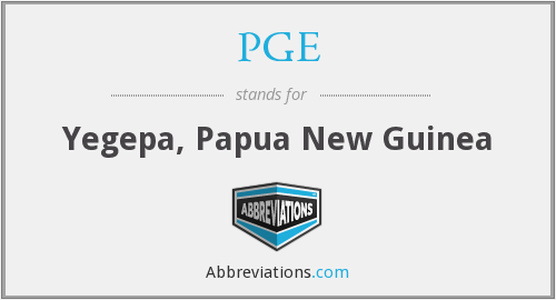 What does PGE stand for?