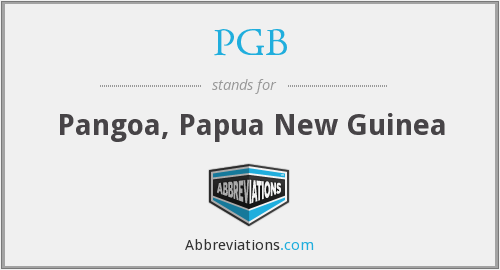 What does PGB stand for?