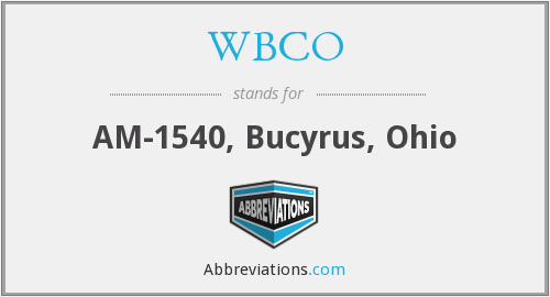What does WBCO stand for?