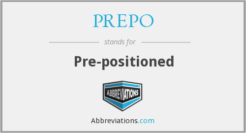 What does PREPO stand for?