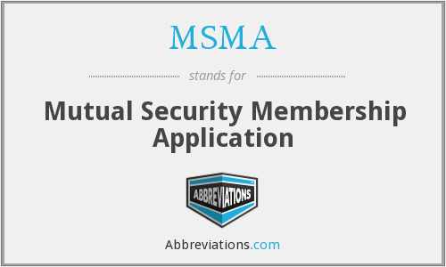 What does MSMA stand for?