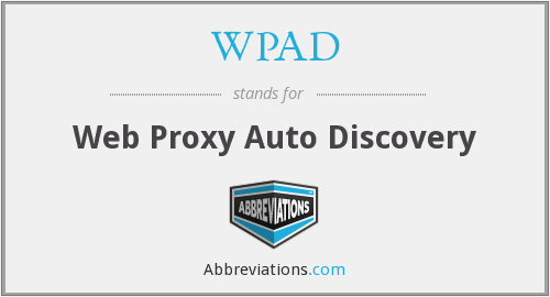 What does WPAD stand for?
