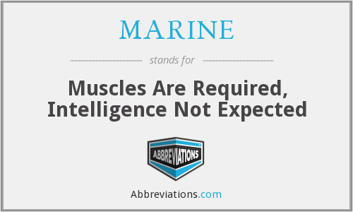 What does MARINE stand for?