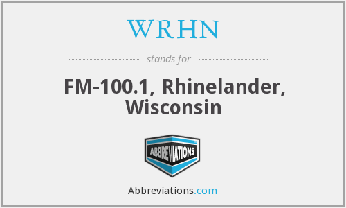 What does WRHN stand for?