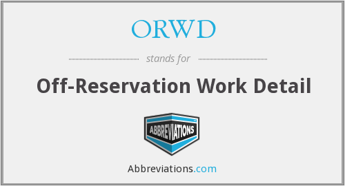 What does ORWD stand for?