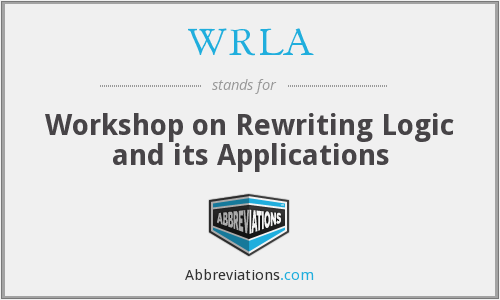 What does WRLA stand for?