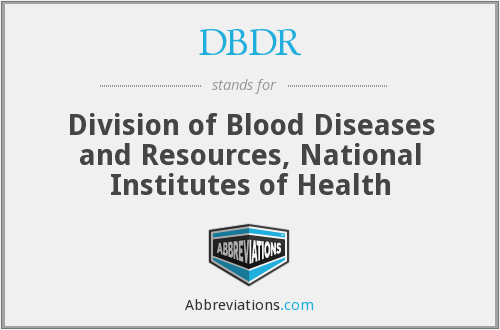 What does DBDR stand for?