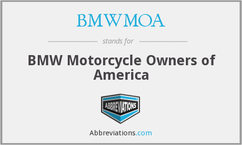 What does BMWMOA stand for?