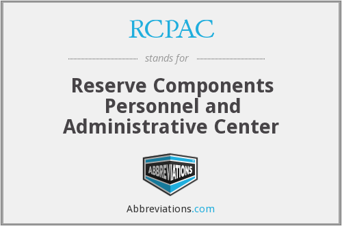 What does RCPAC stand for?